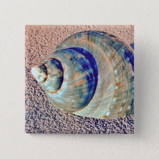 Sea Welk Seashell 15 Cm Square Badge
