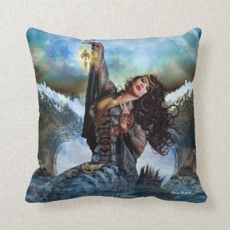 Sea Witch Magical Art Decorative Throw Pillow