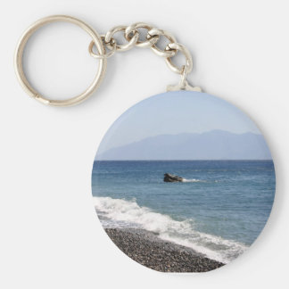 sea with stones key ring