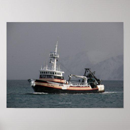 Sea Wolf, Fishing Trawler in Dutch Harbor, AK Print