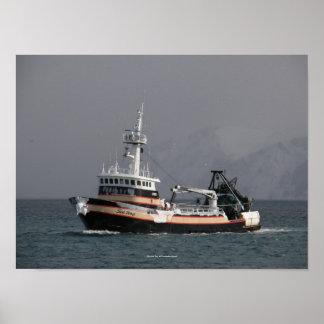 Sea Wolf Fishing Trawler in Dutch Harbor AK Print