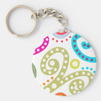 Sea World Basic Round Button Key Ring
