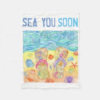 Sea You Soon fleece blanket