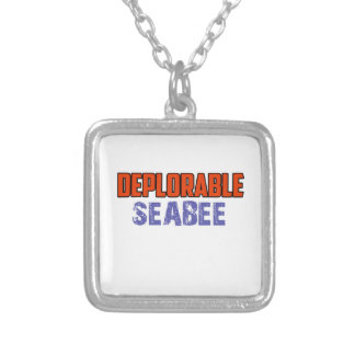 seabee design silver plated necklace