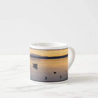 Seabirds and Boat Espresso Mug