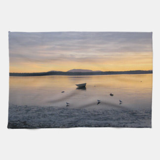 Seabirds and Boat Tea Towel
