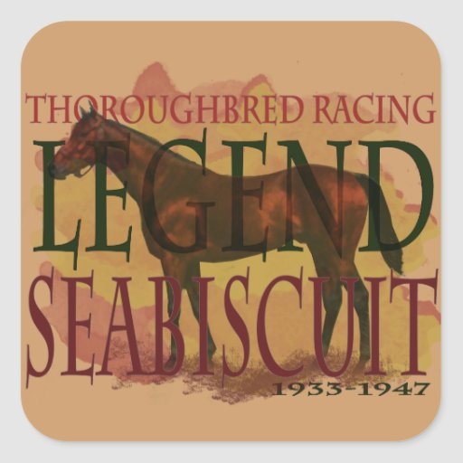 Seabiscuit - Thoroughbred Racing Legend Stickers