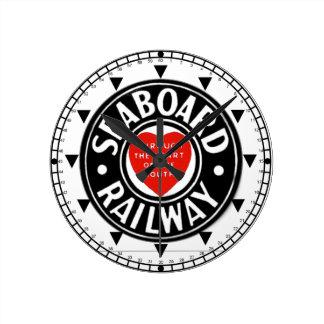 Seaboard Air Line Railway Heart Logo Wall Clock
