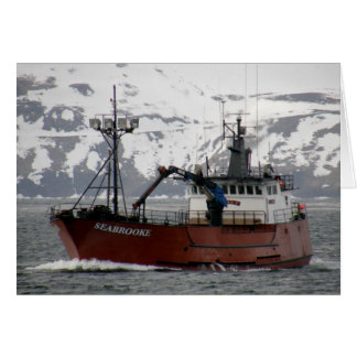 Seabrooke Crab Boat in Dutch Harbor Alaska Cards