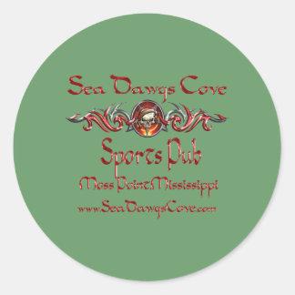 SeaDawgs Cove Sports Pub Round Sticker