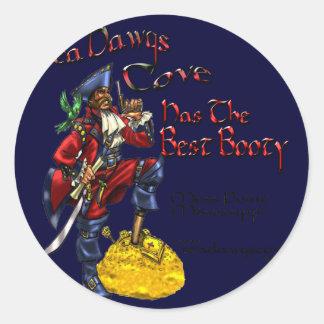 SeaDawgsCove Sports Pub Round Stickers