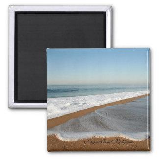 Seafoam Beach Magnet Square