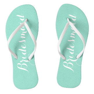 Seafoam Bridesmaid Flip Flops