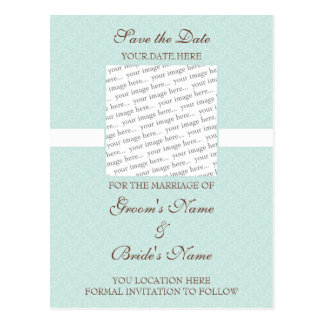 Seafoam Eggshell Save the Date Postcard