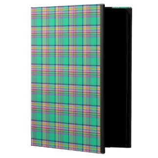 Seafoam Green and Hot Pink Girly Plaid Cover For iPad Air