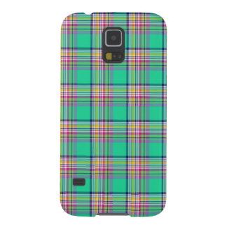 Seafoam Green and Pink Girly Plaid Pattern Case For Galaxy S5