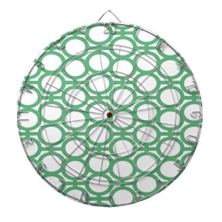Seafoam Green and White Eyelets Dart Boards