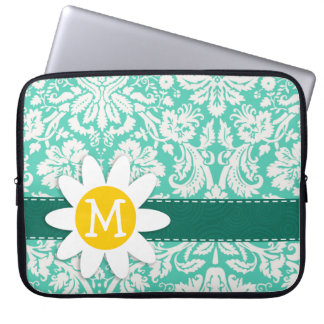 Seafoam Green Damask; Spring Daisy Laptop Sleeves