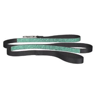 Seafoam green glitter dog leash