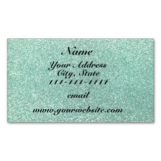 Seafoam green glitter magnetic business cards (Pack of 25)