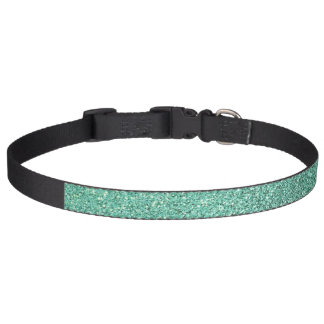 Seafoam green glitter pet collar