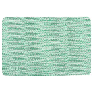 Seafoam Green Weave Mesh Look Floor Mat