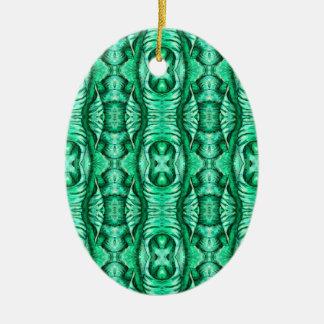 Seafoam Mint Green Dragon Lizard Reptile Scales Ceramic Oval Decoration