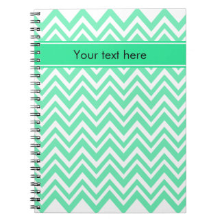 Seafoam Mint Green Zigzgag Pattern Notebooks