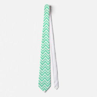 Seafoam Mint Green Zigzgag Pattern Tie