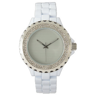 Seafoam Neutral Striped Pattern Watch