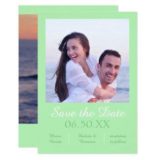 Seafoam Photo Vertical - 3x5 Save the Date Card