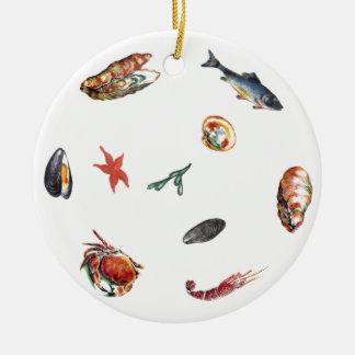 seafood christmas ornament