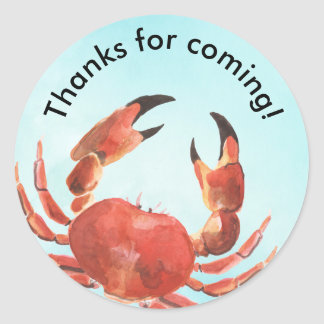 Seafood Crab Boil Birthday Party Thank You Classic Round Sticker