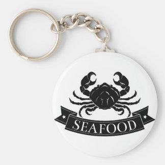 Seafood crab icon key chain