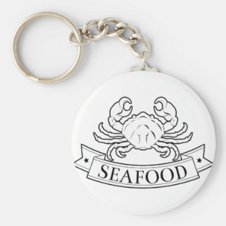 Seafood label keychains