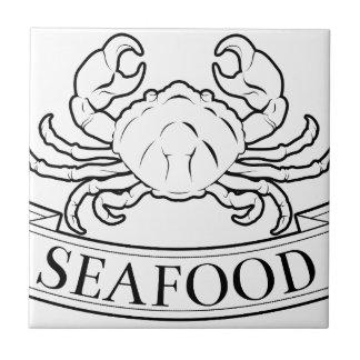 Seafood label ceramic tile