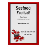 Seafood Lobster Crab Festival Poster