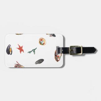 seafood luggage tag