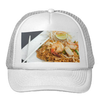 Seafood Pad Thai Fried Rice Noodles Hats