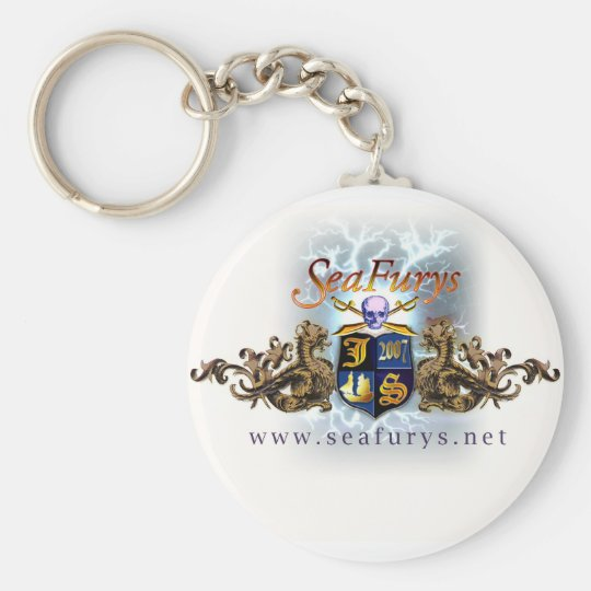 SeaFurys Shield (White) Keychain