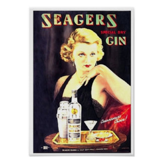 Seager's Gin Print