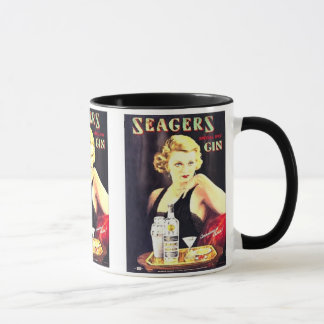 Seager's Gin Vintage Liquor Label Mugs & Steins