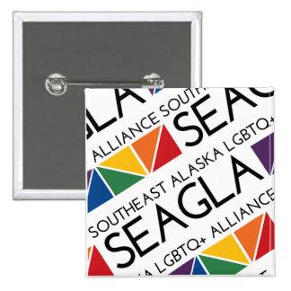 SEAGLA Square Logo Pin
