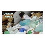 Seaglass Business Cards Blue custom Fossils