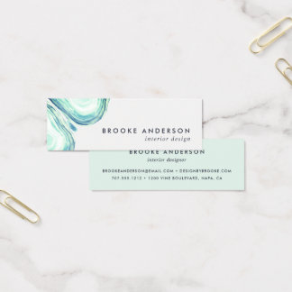 Seaglass Geode Mini Business Card