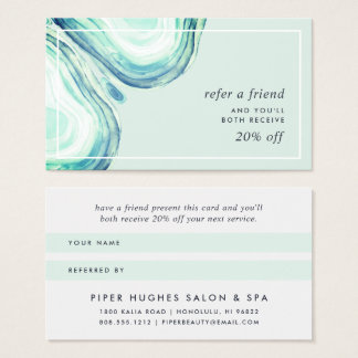 Seaglass Geode | Referral Business Card