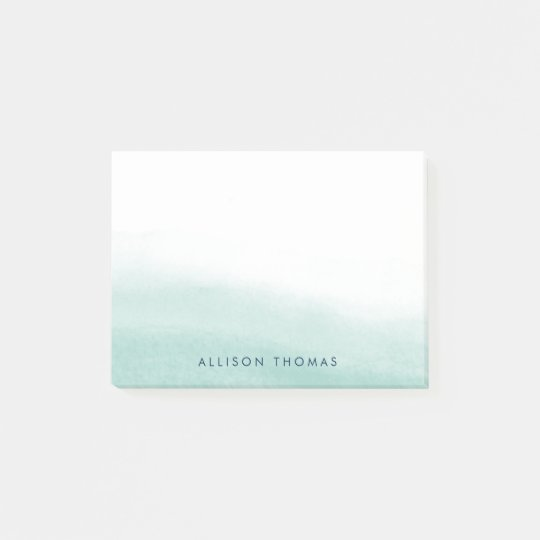 Seaglass Tides Personalised Post-it Notes