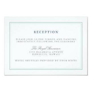 Seaglass Tides Wedding Reception 9 Cm X 13 Cm Invitation Card