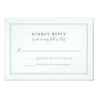 Seaglass Tides Wedding RSVP Card