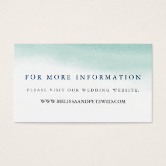 Seaglass Tides Wedding Website Cards